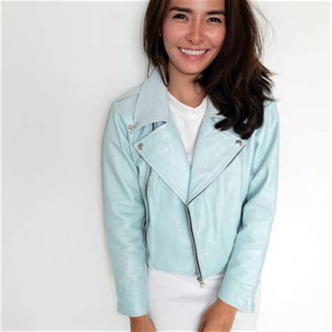 light blue leather jacket womens best pastel jacket products on wanelo