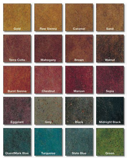stained polished concrete color chart home ways stained concrete concrete color concrete