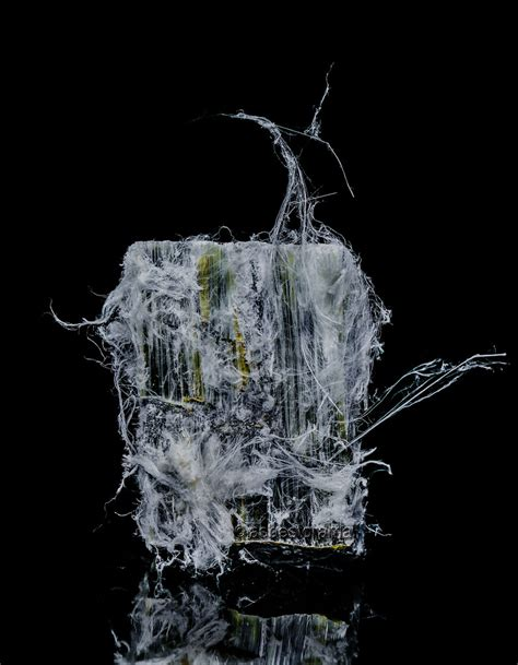 fibrous chrysotile asbestos sample  image