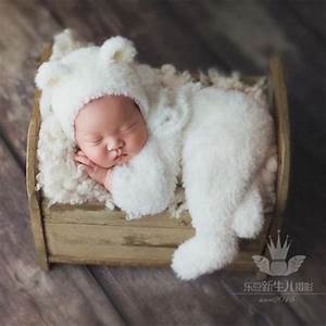 Newborn outfits Baby bear outfits photography props,Handmade fuzzy photography clothes for ...