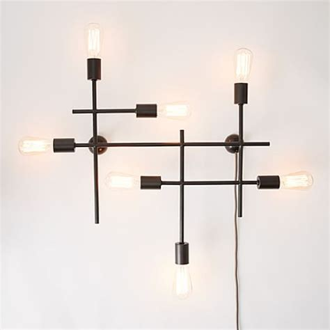 industrial grid wall sconce west elm