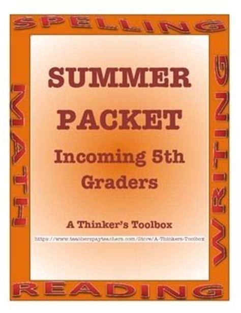 Summer Packet  Incoming 5th Graders  Toolbox, 5th Grades And This Summer
