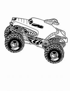 Pin Monster-jam-coloring-page-pages on Pinterest