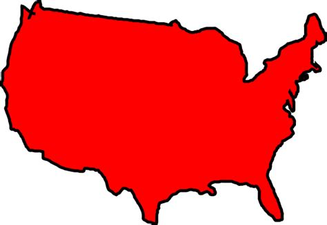 Red Map Usa Clip Art At Clker.com