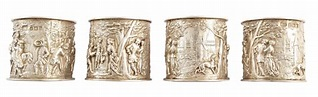 Lot 3 - Boxed set of 4 silver napkin rings