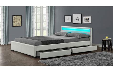 chambre jumeaux lit design blanc italien 140 cm avec 4 tiroirs et
