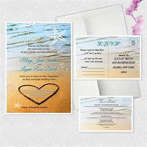 beach starfish wedding invitations personalized invites With personalised embossed wedding invitations