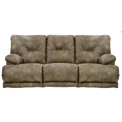 catnapper voyager power 3 seat quot lay flat quot reclining sofa