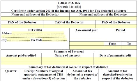 income tax section 16 what is form 16a how to verify its details