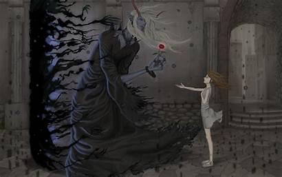 Demon Anime Dark Fantasy Gothic Iphone Desktop