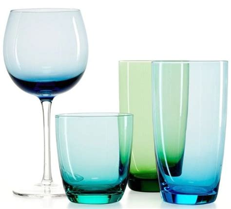 martha stewart kitchen collection beautiful blue drinkware in hues bliss living