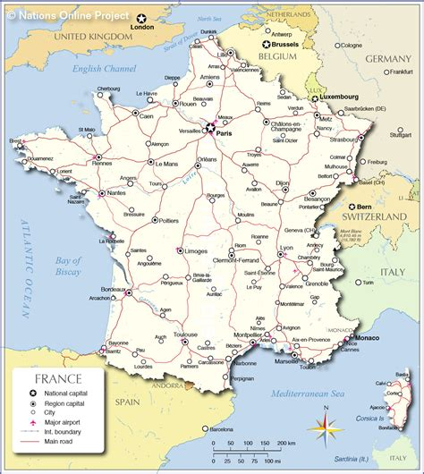 political map  france nations  project