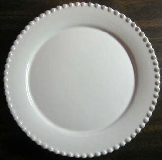 white raised dotted edge brushed gray plate