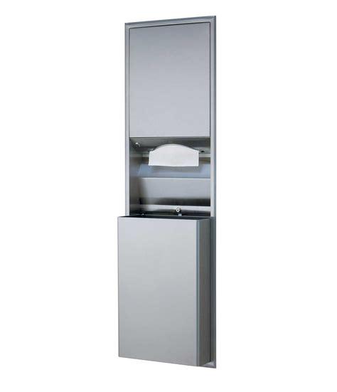 b 3944 recessed convertible paper towel dispenser waste