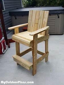 Bar, Height, Adirondack, Chair
