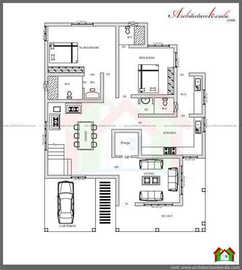 house plan architects 4 bed house plan with pooja room architecture kerala