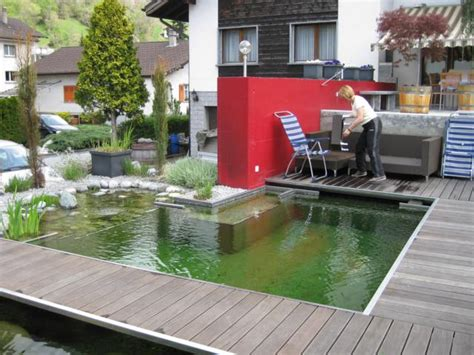 Schwimmteiche Für Kleine Gärten badeteich mitte