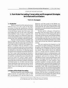 soil and water conservation essay examples