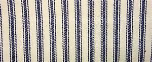 James Thompson Fabrics Ticking Stripe Navy Blue