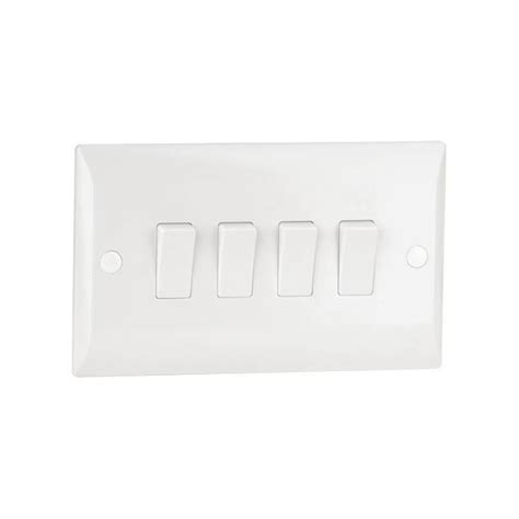 low profile light switch 4 gang 2 way 10a light switch plastic white low profile