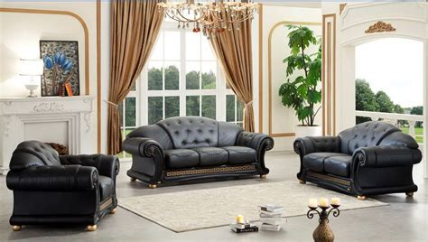 Living Room Set Sale Ottawa by Versace Living Room Set Black Buy At Best Price