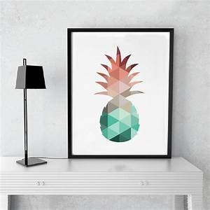 Pineapple print canvas art poster wall pictures canvas for Best brand of paint for kitchen cabinets with cheap contemporary wall art