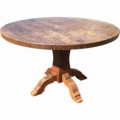 Round Wood Rustic Oak French Table Antique