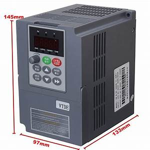 1 5kw 220v Ac 7a Single Phase Variable Frequency Inverter General Purpose Gray