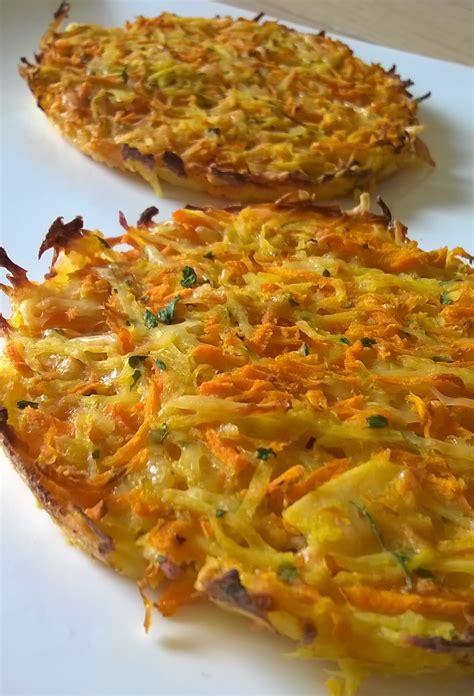galettes de pommes de terre carottes