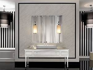 lutetia l3 luxury art deco italian bathroom furniture in With kitchen colors with white cabinets with art deco round wall mirror