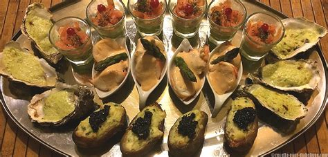 recette cuisine simple apéritif dînatoire de la mer