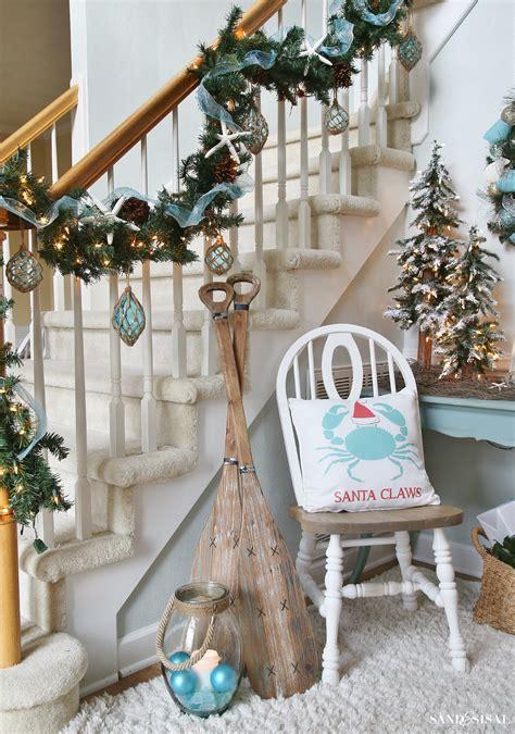 festive coastal christmas pillows sand  sisal