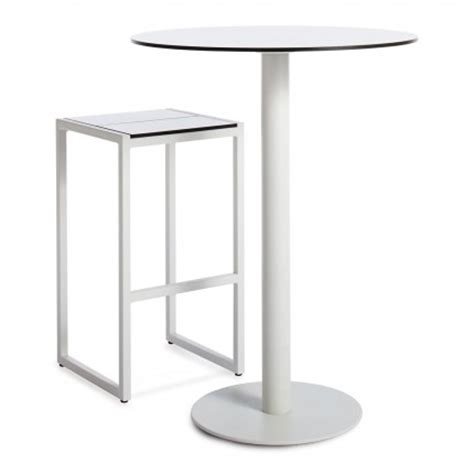 skiff outdoor bar height table and barstool modern