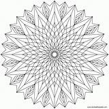 Coloring Kaleidoscope Pages Popular sketch template