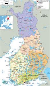 map of detailed clear large map of finland ezilon maps