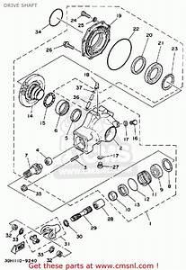 Yamaha Yfm250w Moto-4 1989 Drive Shaft