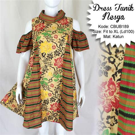 dress tunik nesya kembang lurik dress murah batikunikcom