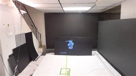 black projection screen paint