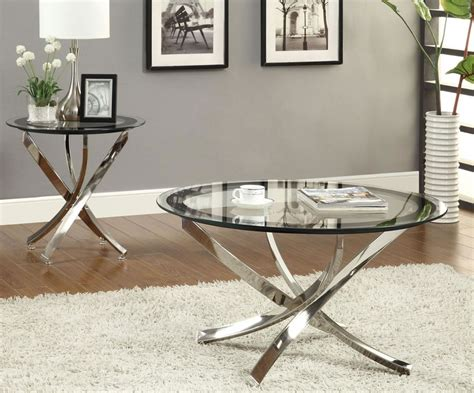 amazing coffee table with using round metal coffee