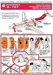 Safety Card Aviogenex Boeing B727