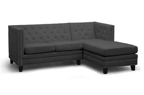 grey tufted sectional sofa baxton studio tsf 71016 sectional grey parkis gray linen