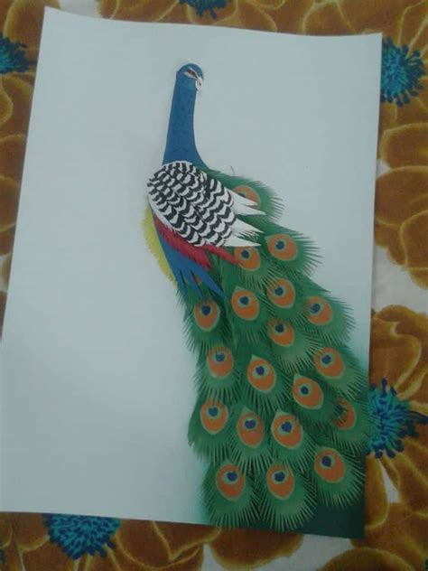 paper peacock step  step simple craft ideas