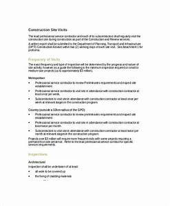 8 visit report examples samples pdf doc With construction site visit report template