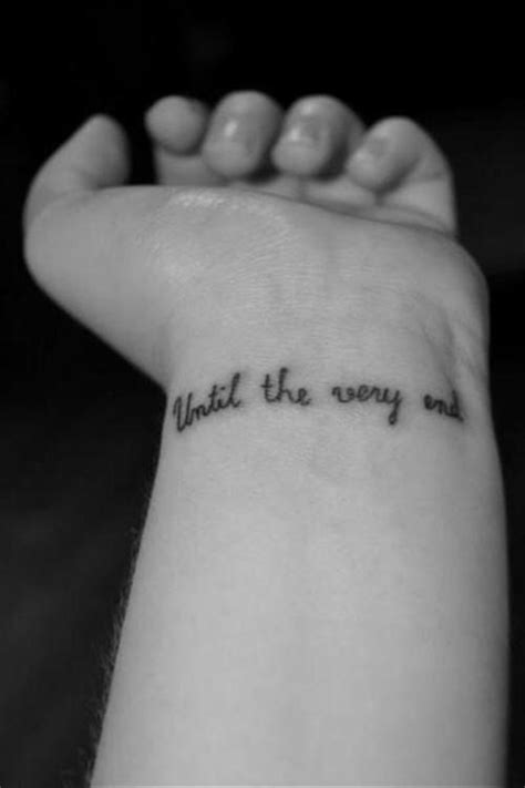 until the very end Harry Potter small wrist tattoo | Wrist tattoos, Harry potter tattoos, Small