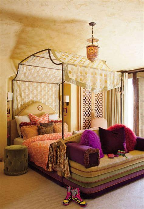 bohemian bedroom inspiration  poster beds  boho