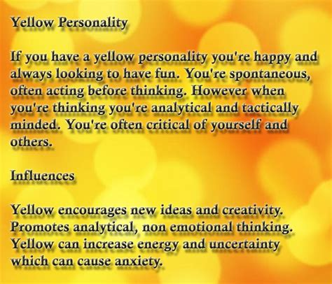 color yellow meaning yellow personality affects color psychology meaning