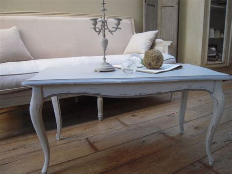 flamant canapé table basse ancienne patinée chanvre et gris flamant