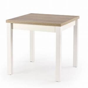 Table Carrée Rallonge : table carr e bois et blanc avec rallonge salta ~ Teatrodelosmanantiales.com Idées de Décoration