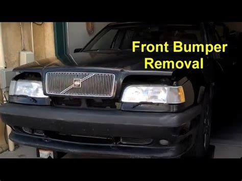 remove replace  install  front bumper volvo