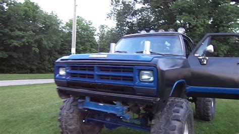 dodge mud truck dodge mud truck on 44s youtube